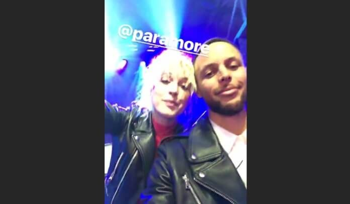 Hayley Williams e Stephen Curry