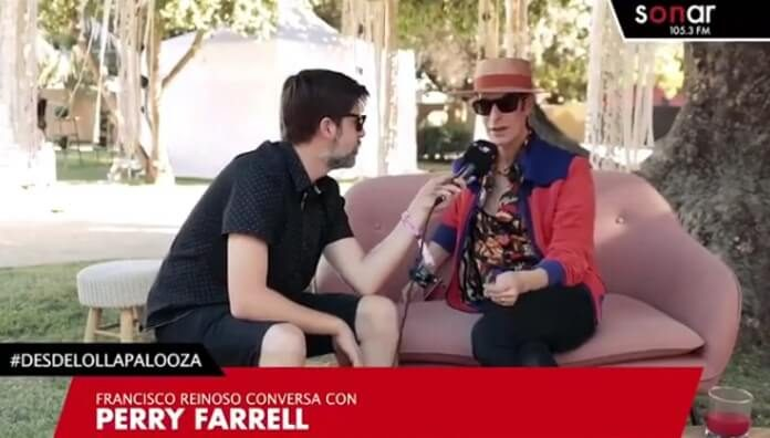 Perry Farrell no Lollapalooza Chile