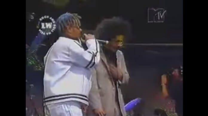 O Rappa e Marcelo D2 no VMB 1996