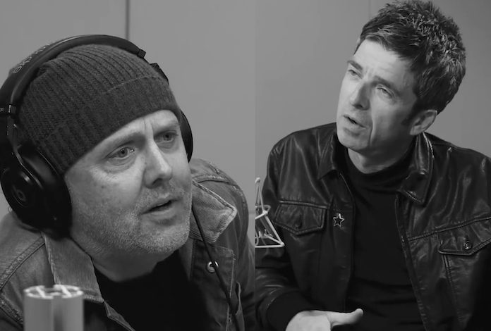 Lars Ulrich e Noel Gallagher