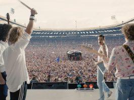 Cena do filme Bohemian Rhapsody, sobre o Queen