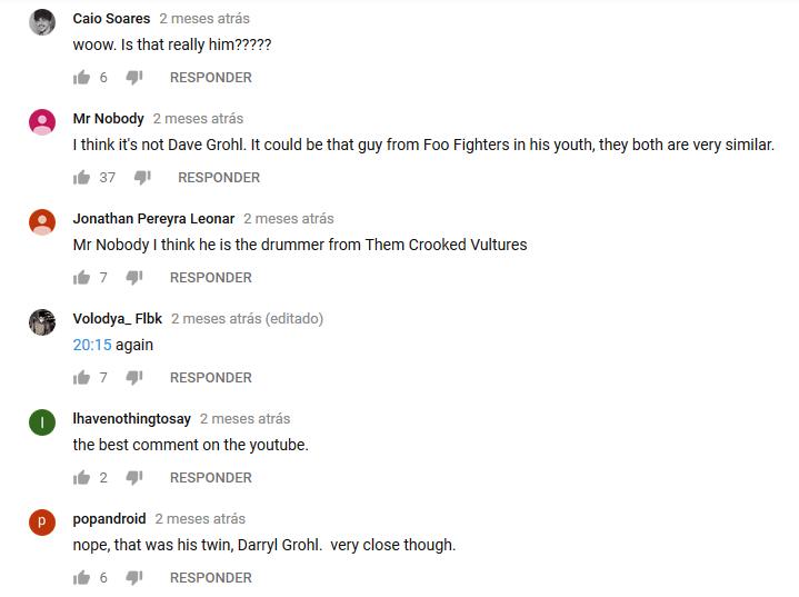 Comentários confusos sobre Dave Grohl onipresente