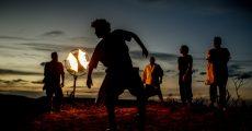 Cordel do Fogo Encantado no clipe de Liberdade (Foto por Tiago Calazans)