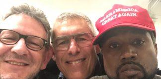 Kanye West e o boné de Donald Trump