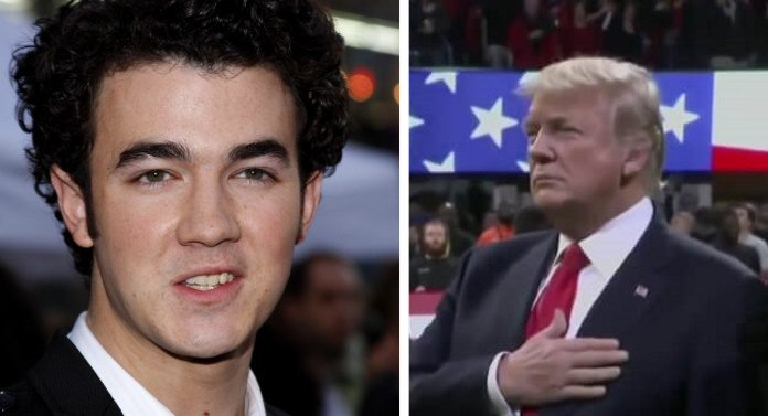 Kevin Jonas e Donald Trump