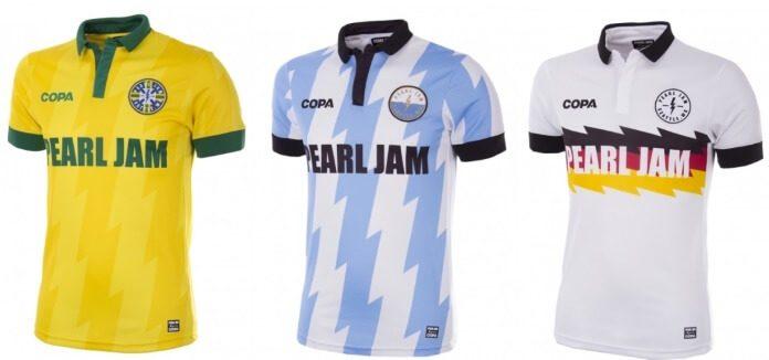 Pearl Jam lança camisetas de futebol