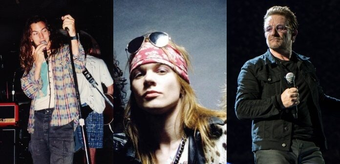 Eddie Vedder, Axl Rose e Bono