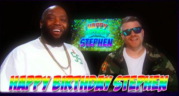 Run The Jewels estraga o aniversário de Stephen Colbert