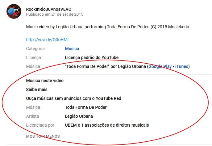 Youtube Começa A Mostrar Créditos De Bandas E Artistas Em Seus Vídeos