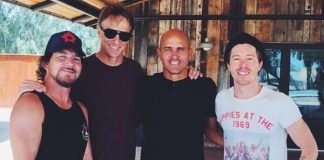 Eddie Vedder, Tony Hawk, Kelly Slater, Shaun White