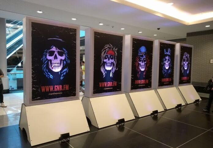 Ação do Guns N Roses em São Paulo
