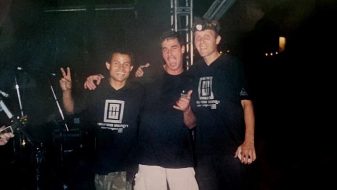 Edson Pistão, roadie (último da esquerda para a direita)
