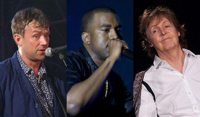 Damon Albarn acredita que parceria entre Paul McCartney e Kanye West foi forçada