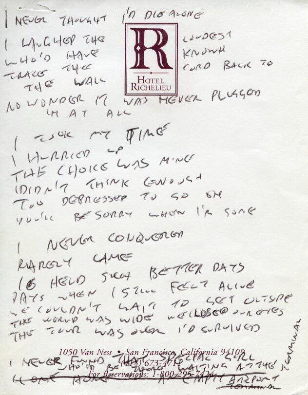 Letra de Adam's Song, do Blink-182