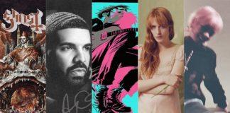 Lançamentos de discos de Junho 2018