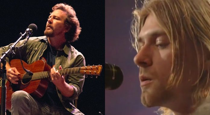 Eddie Vedder e Kurt Cobain