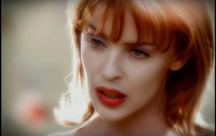 Kylie Minogue no clipe de