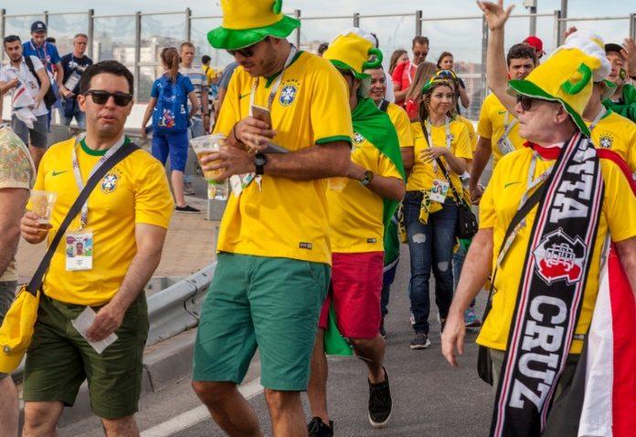 Torcida do Brasil na Copa da Rússia 2018
