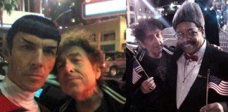 Bob Dylan encontra sósias de Spock e Don King