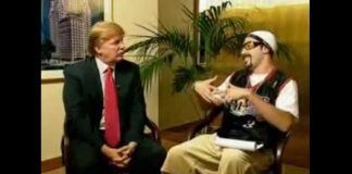 Donald Trump e Sacha Baron Cohen como Ali G