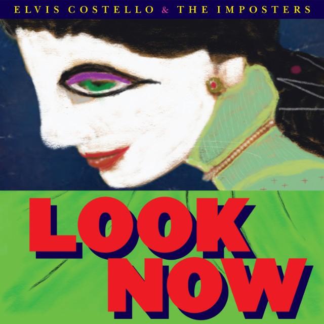 """capa do disco """"look now"""" do elvis costello"""