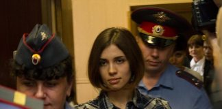 Nadezhda, do Pussy Riot, na prisão em 2012