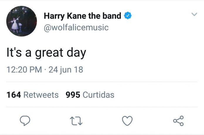 Wolf Alice homenageando Harry Kane