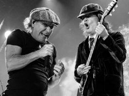 Brian Johnson e Angus Young, do AC/DC