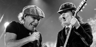 Brian Johnson e Angus Young, do AC/DC