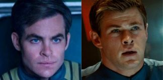 Chris Pine e Chris Hemsworth em Star Trek