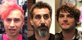 Jimmy Urine do Mindless Self Indulgence com Serj Tankian e Gerard Way