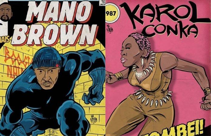 Mano Brown (Racionais) e Karol Conká em quadrinhos
