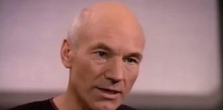 Patrick Stewart como o capitão Picard em Star Trek