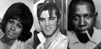 Aretha Franklin, Elvis Presley e Robert Johnson