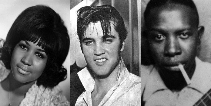 Aretha Franklin, Elvis Presley e Robert Johnson