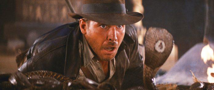 """Harrison Ford e milhares de cobras em """"O Templo da Perdição""""."""