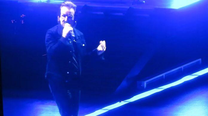 Bono (U2) perdendo a voz em show na Alemanha