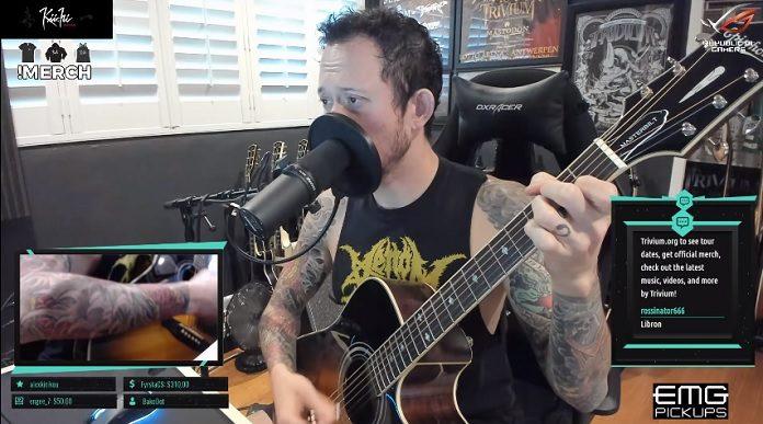 Matt Heafy (Trivium) tocando Lady Gaga
