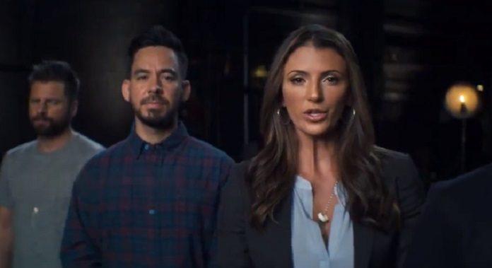 Mike Shinoda e Talinda Bennington em campanha de prevenção ao suicídio