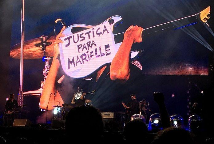 Tom Morello em POA - Justiça para Marielle