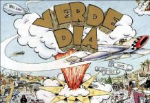 Capa de Dookie, do Green Day, com nome traduzido