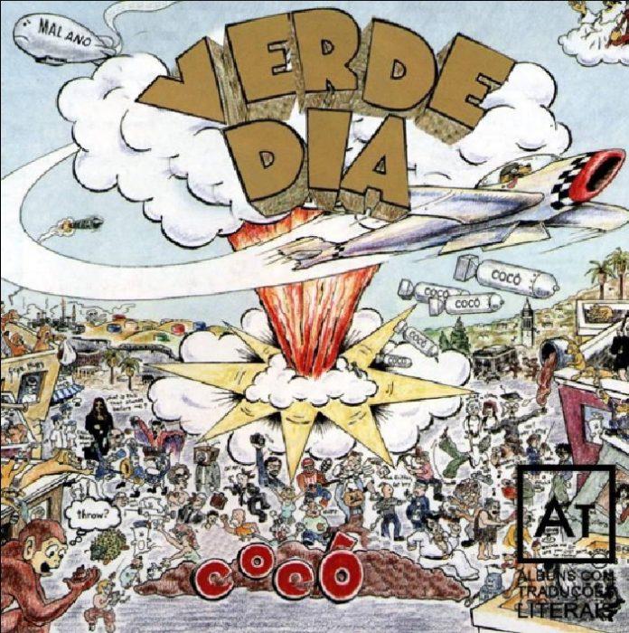 Capa de Dookie, do Green Day, com nome traduzido