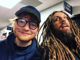 550430a9ec Ed Sheeran curte show de Marilyn Manson com guitarrista do KoRn
