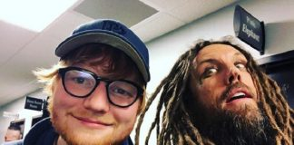 Ed Sheeran e Brian Head Welch do KoRn