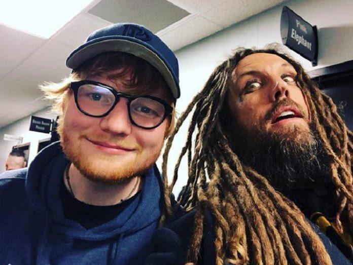 Ed Sheeran e Brian Head Welch do KoRn