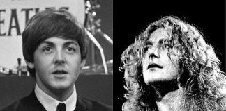 Paul McCartney (Beatles) e Robert Plant (Led Zeppelin)