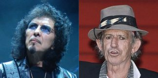 Tony Iommi (Black Sabbath) e Keith Richards (Rolling Stones)