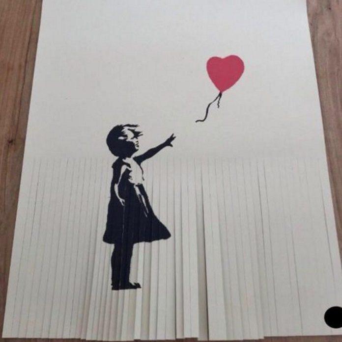 Cópia de Banksy triturada pelo dono