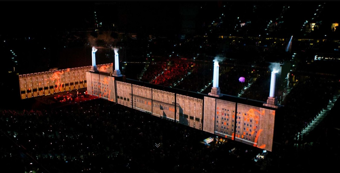 Palco de Roger Waters na turnê Us+Them