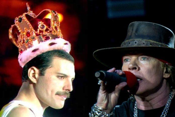 Freddie Mercury (Queen) e Axl Rose (Guns N Roses)